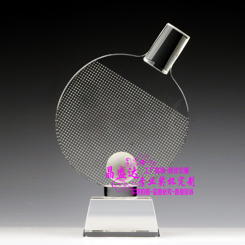 Table tennis trophy trophy free custom lettering crystal trophy crystal trophy sports trophy tournament trophy custom table tennis table tennis racket