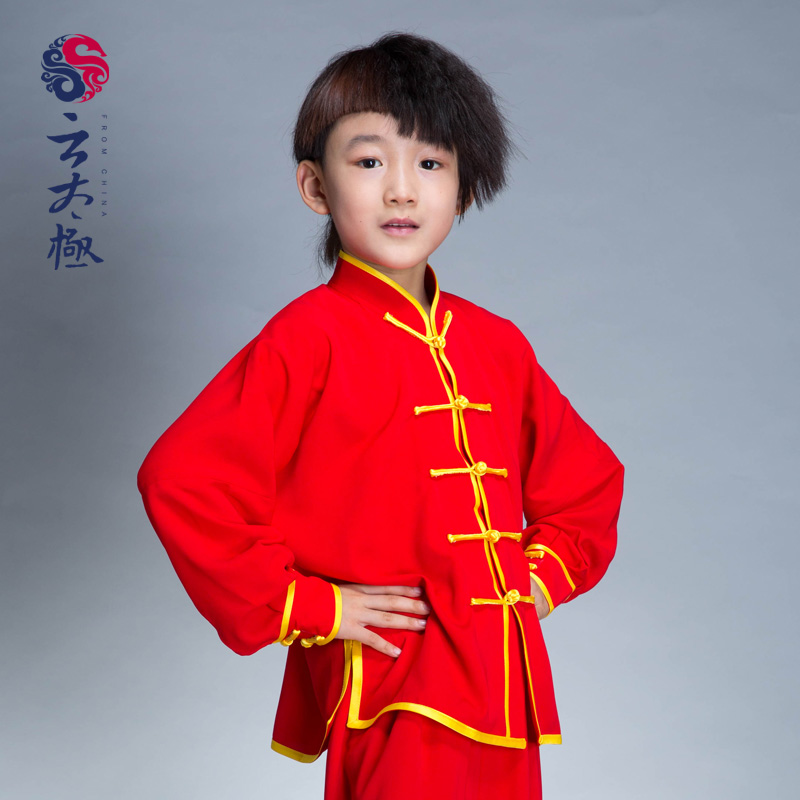 Tai chi morning dew cloud chenjiagou handmade designs for men and women martial arts tai chi clothing performance clothing for children cotton silk