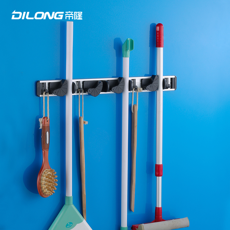 Tai lung aluminum space frame kitchen mop mop rack shelf broom mop mop rack rack rack hanging clothes hooks towel hooks