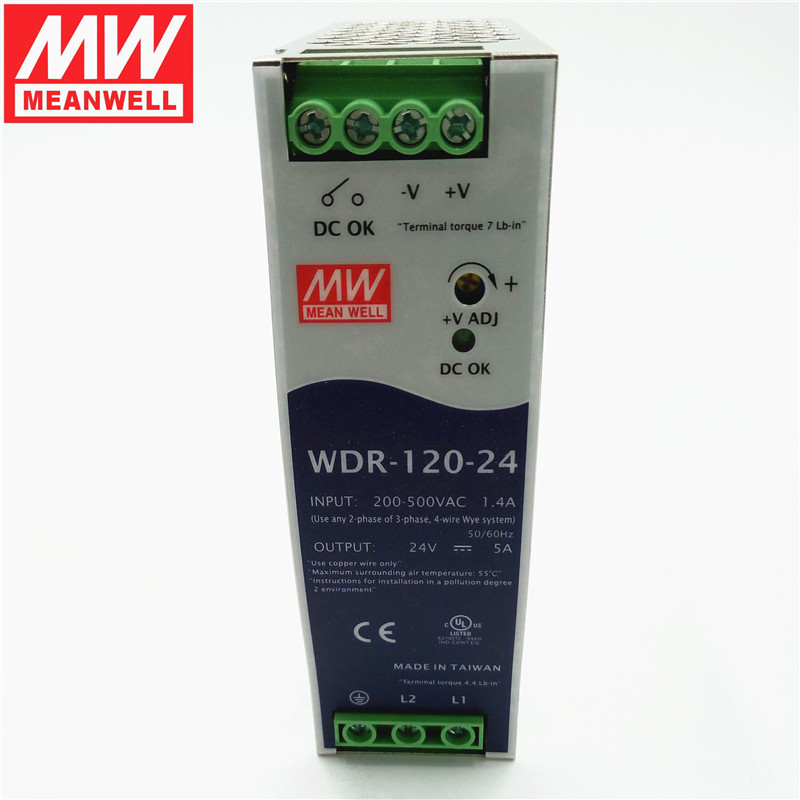 Taiwan meanwell switching power supply rail WDR-120-48 120W48V2. 5a single phase input ultrathin