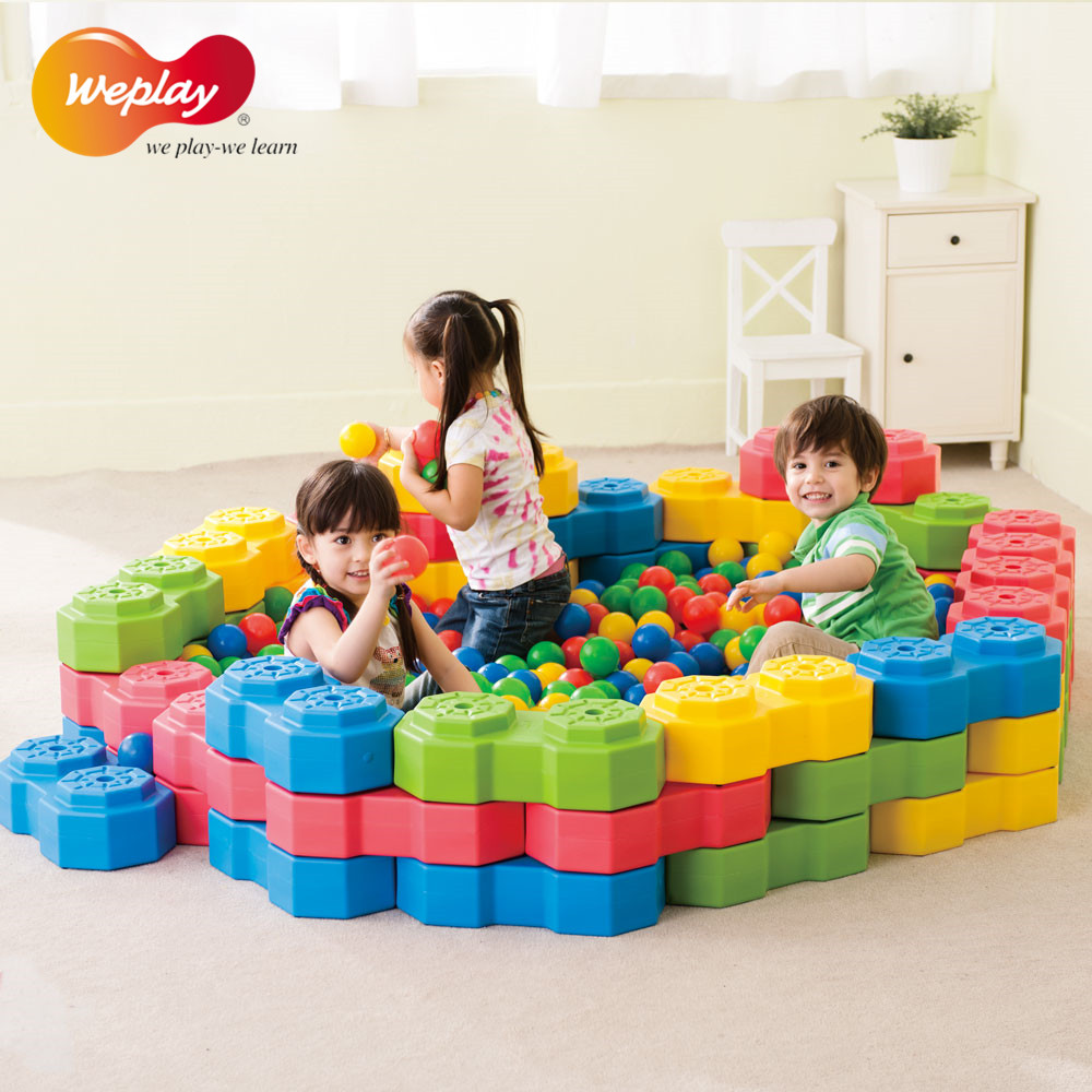 Taiwan original weplay kindergarten large soft plastic toys for children anquan jing tone illiciaceae shape blocks