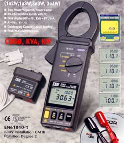 Taiwan taishi TES-3064 digital clamp meter power meter high precision handheld electric power meter power meter