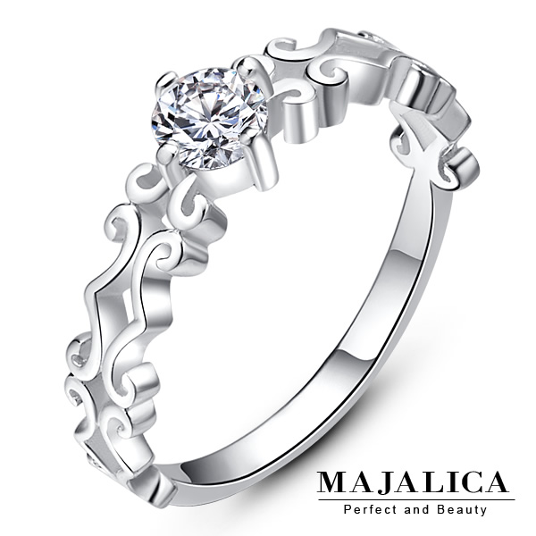Taiwan's official website direct mail import majalica shine happy 925 sterling silver rings sterling silver tail ring ladies sook