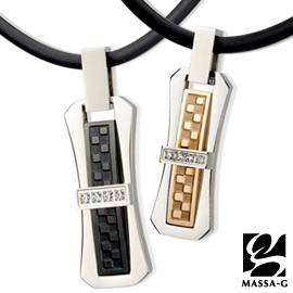 Taiwan's official website direct mail import MASSA-G deco series [love] unlimited on germanium titanium necklace