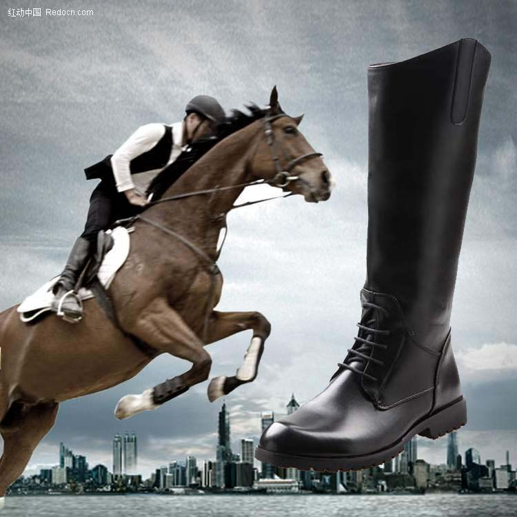 Tall boots riding boots fashion trend of male boots male boots male martin boots boots boots dongkuan guard of honor