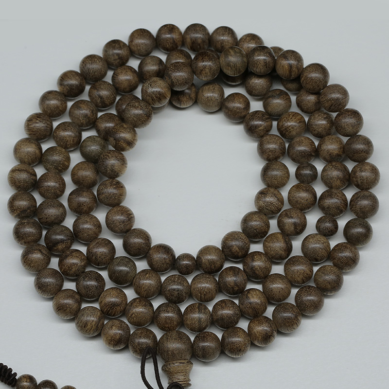 Tan sound genuine soft silk 7 points shen simma old material incense rosary beads bracelets fidelity 08 8mm1颗27.02 grams