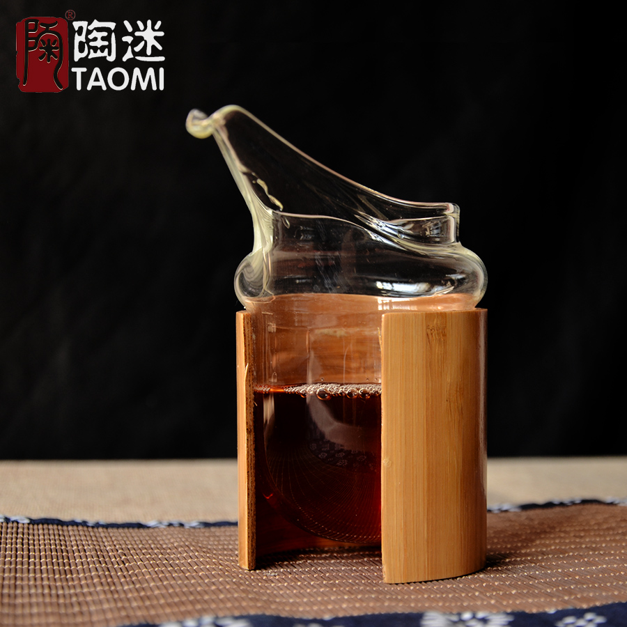 Tao fans thick pyrex houchuwei olecranon glass fair cup of tea sea bamboo tea sets teapot glass tea cup male sub Tea