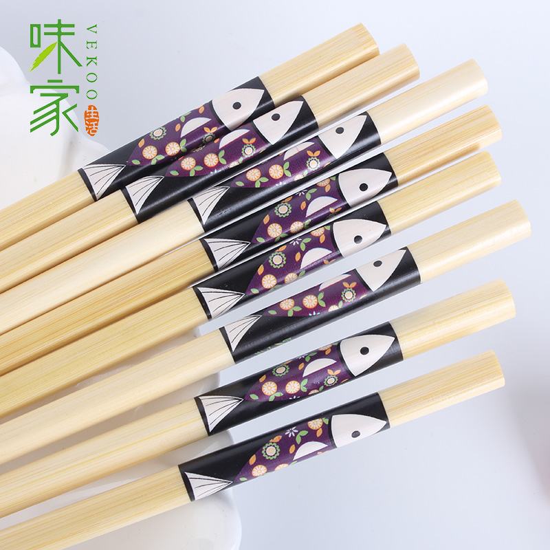 Taste home chopsticks chopsticks every year gift chopsticks chopsticks 10 pairs of chopsticks suit creative household bamboo chopsticks