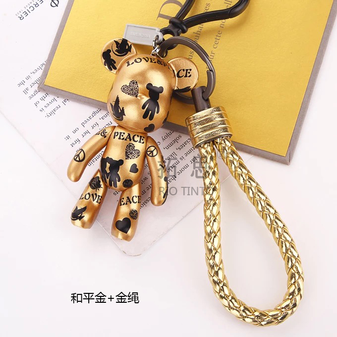 Taurus gloomy keychain keychain cartoon braided rope hanging pieces of creative car key chain pendant korean female