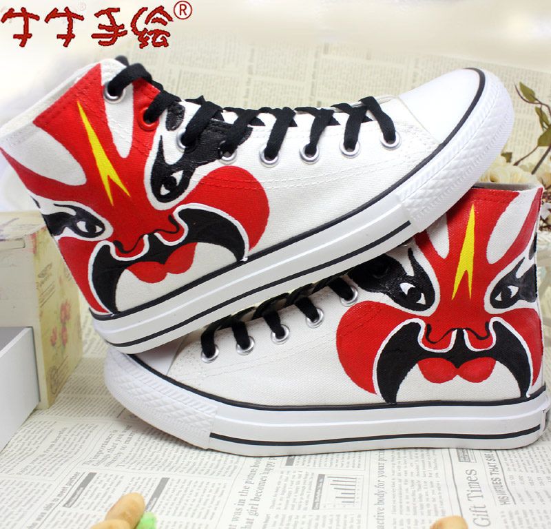 Taurus painted canvas shoes to help casual shoes student shoes female summer national wind peking opera chinese fashion