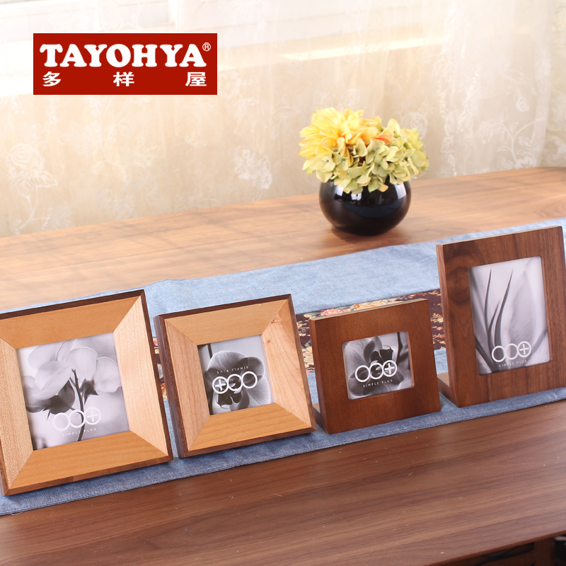 Tayohya diverse housing genuine natural impression photo frame creative minimalist square wood frame frame swing sets
