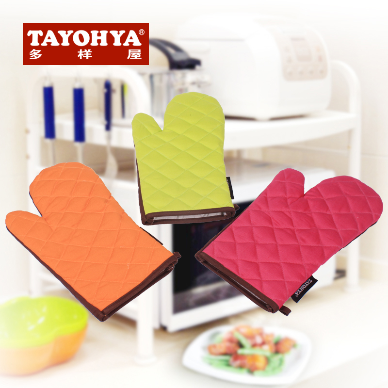 Tayohya diverse housing promotion happy kitchen microwave oven temperature glove fingerless gloves thick cotton