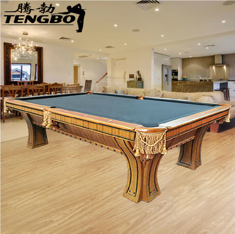 Tb tang bo billiards standard adult household fancy american 16 color black eight american hand carved carved exquisite pool table