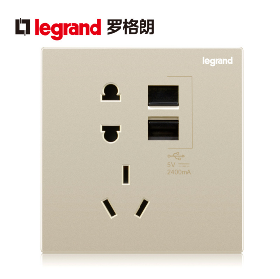 Tcl 86 type switch socket panel with usb socket panel usb charging socket panel legrand champagne color