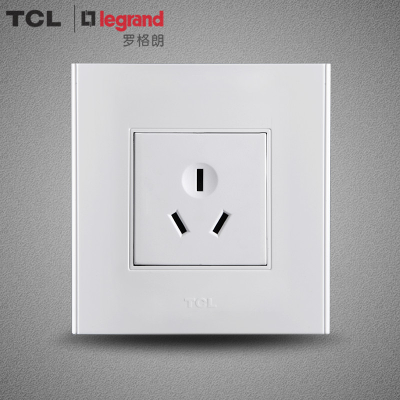 Tcl legrand switch panel 86 type wall switch socket panel a6 series 10a three socket hole