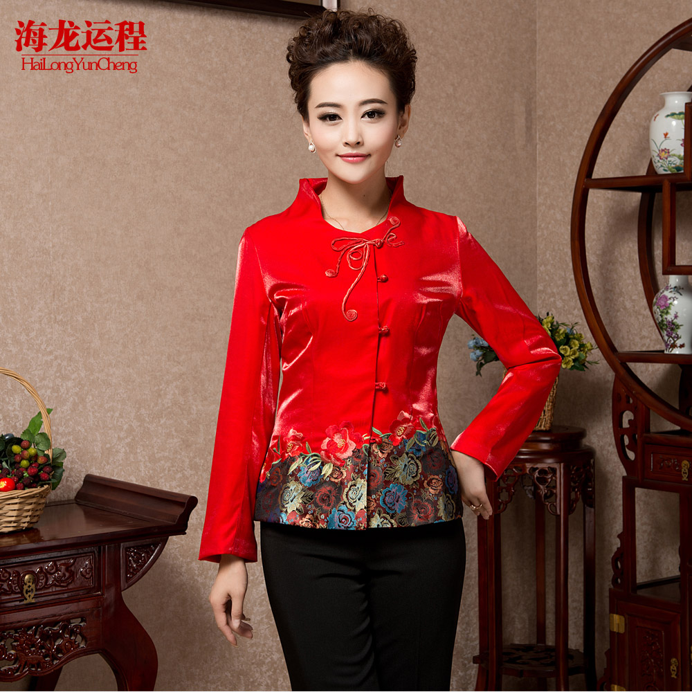 Teahouse overalls fall and winter clothes women lining work clothes hotel waiter overalls fall and winter clothes costume