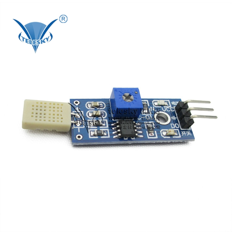 [Telesky] hr202 humidity sensor module detects moisture and humidity module temperature and humidity measuring humidity detection switch