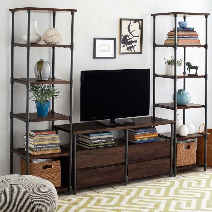 Tell the story of american country wrought iron wood arts layer shelf book shelf racks loft industrial wind retro tv cabinet