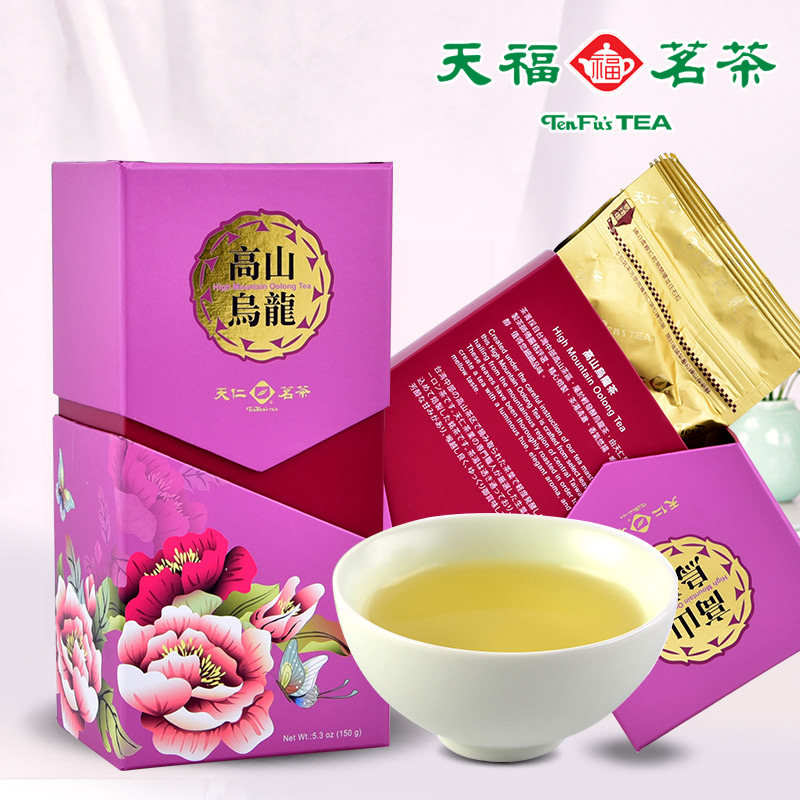 Ten ren tea taiwan high mountain oolong tea taiwan origin tea exquisite gift gift box 150g