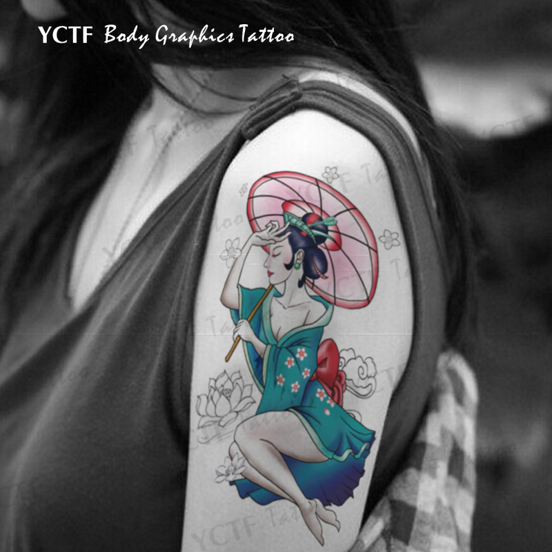 Tengfei 925-color geiko tattoo decals arm tattoo arm tattoo stickers waterproof female tattoo stickers tattoo original tattoo stickers