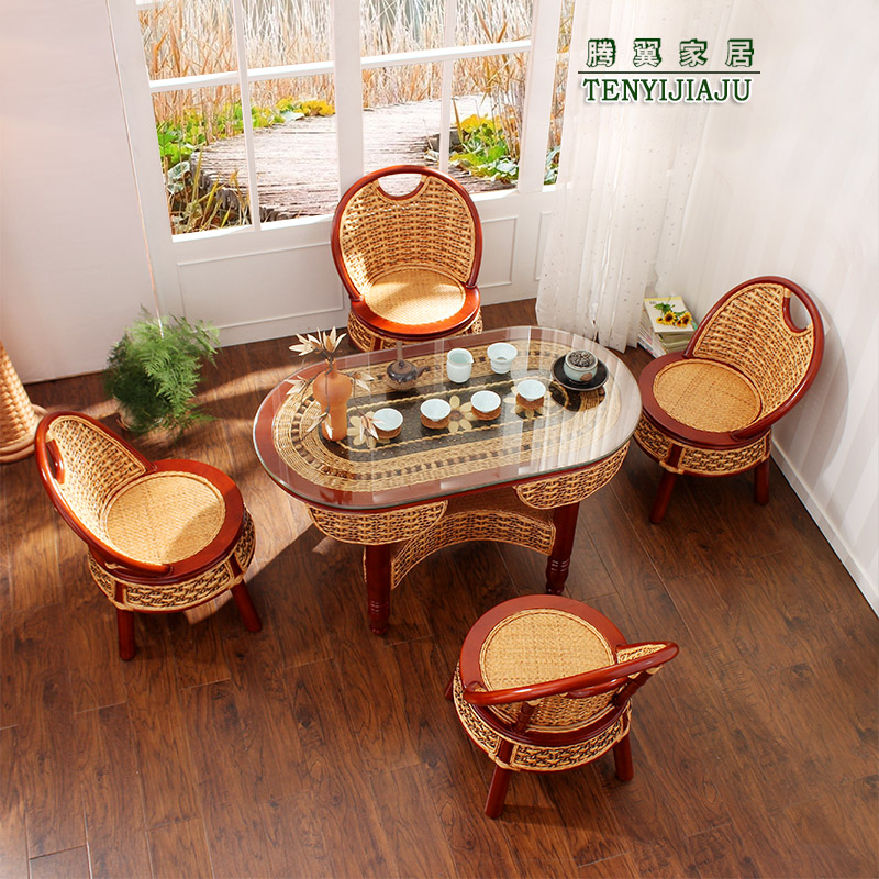 Tengyi rattan chair three sets of special wicker chair wicker chair wicker chair wujiantao combination coffee table rattan chair rattan chair wujiantao specials