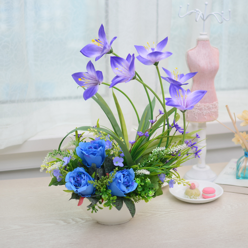 China artificial orchid flowers china artificial orchid flowers get quotations text of the royal orchid artificial flowers artificial flowers ceramic pots suit pieces of decorative flowers mightylinksfo