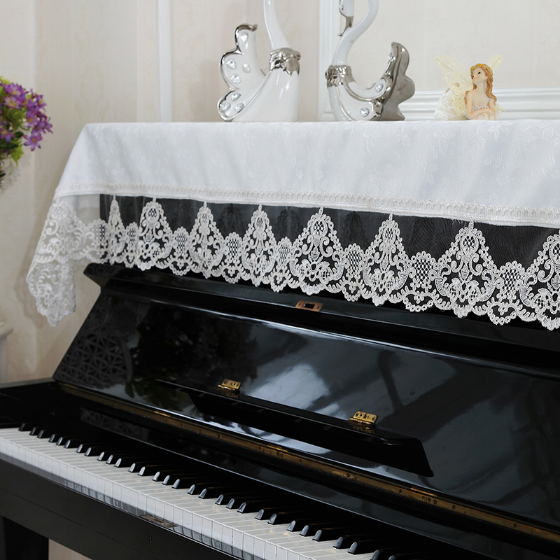 Thailand embroidered european piano piano cover fabric lace embroidered piano cover piano cover half cover cloth towel summer new