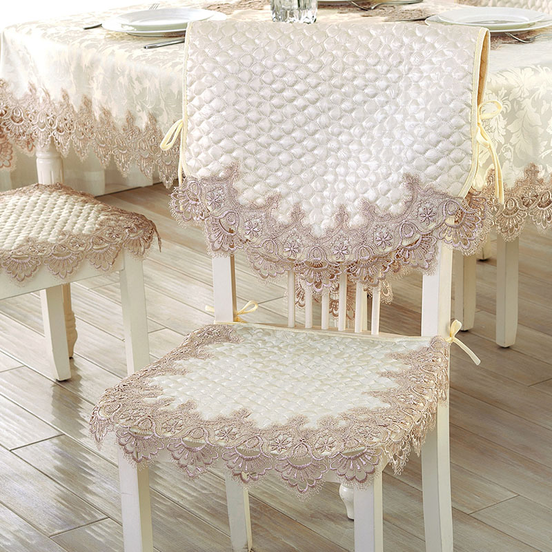 Thailand embroidered lace fabric upholstery dining chair cushion cushion slip european office chair cushion coverings pastoral style