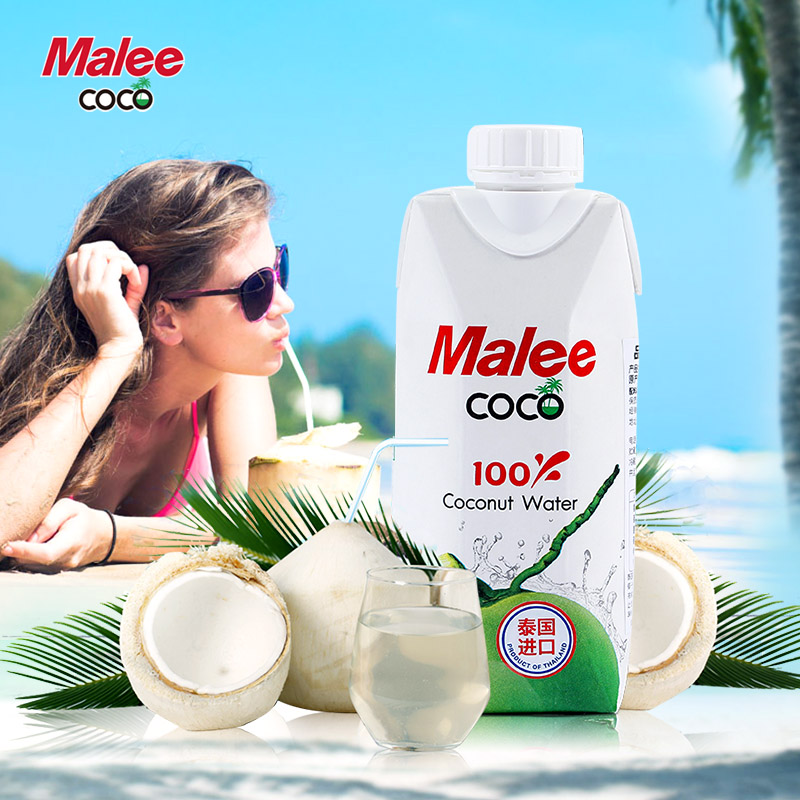 Thailand imports of fresh mary malee coco coconut water coconut drink coconut tree coconut juice 12 bottles of shipping