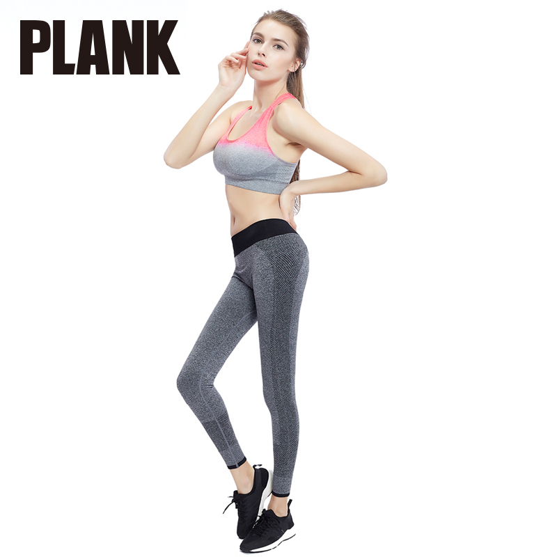 Than thin plank gradient shockproof sports underwear women without rims running yoga bra sports bra set thin