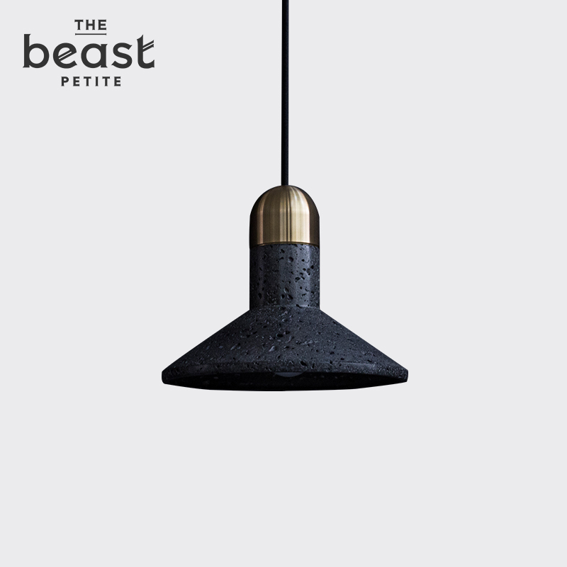 The beast/fauvism on-black/white marble pendant jewelry at home