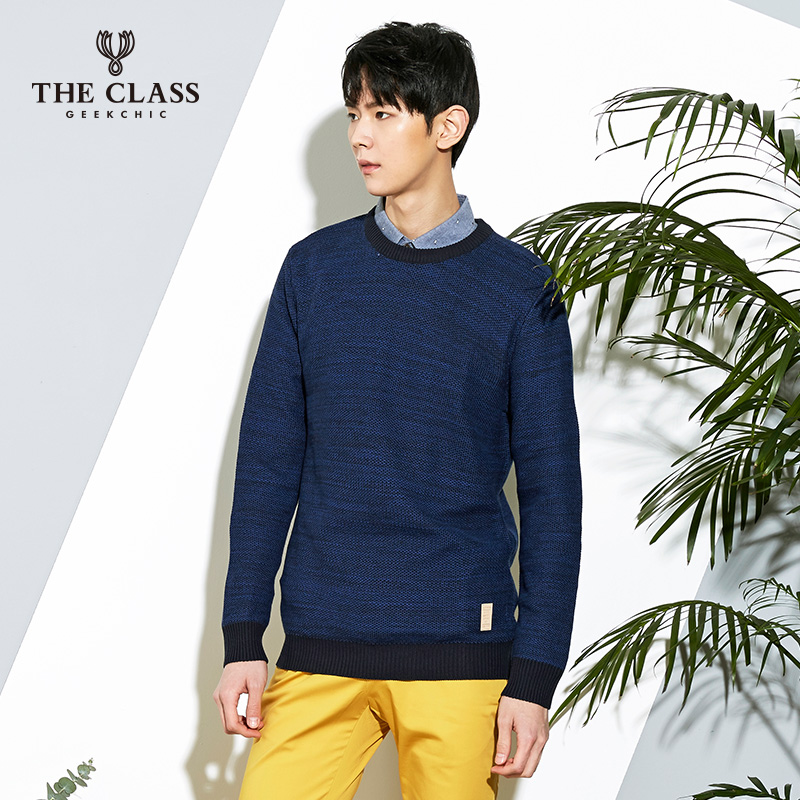 The class hundred good spring and autumn casual men's fashion slim long sleeve sweater men sweater COKT118A