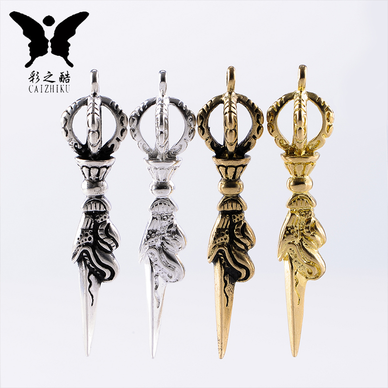 The cool color-brass alloy of gold and silver diamond pendant astonishingly adder bracelets pu tizi xingyue bodhi accessories diy parts