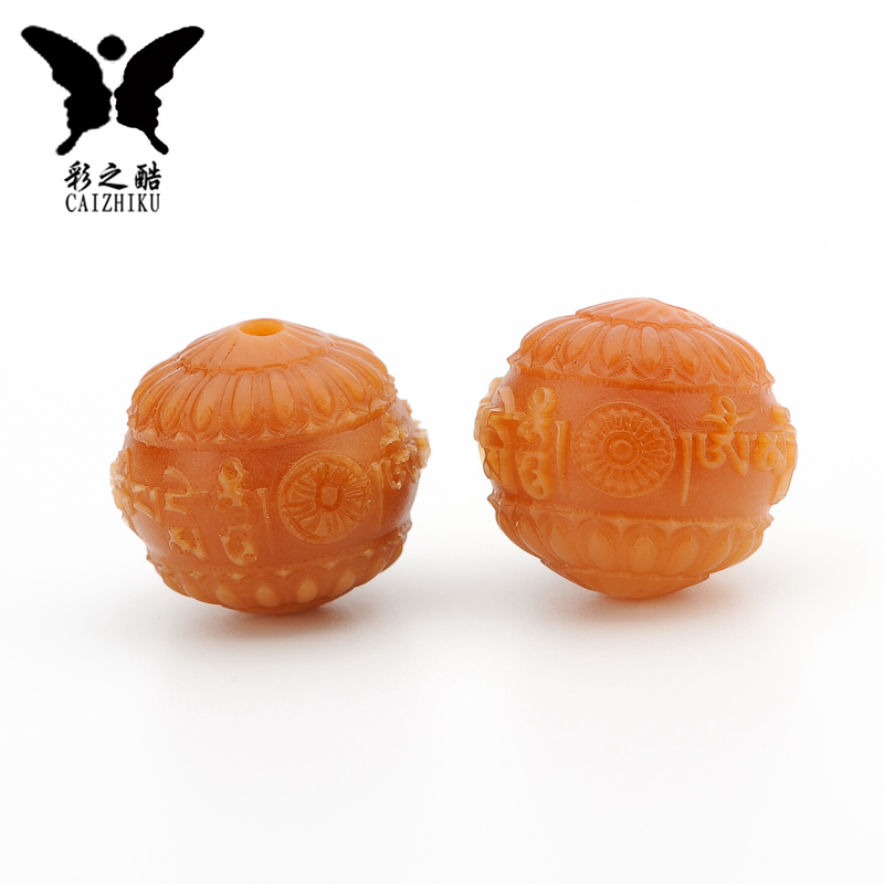 The cool color-hand carved natural weathering bodhi root mantra spacer beads back cloud diy accessories accessories accessories necklace