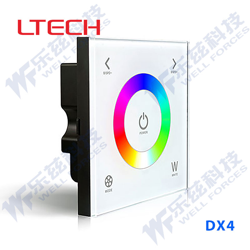 The detrusion of commercial/office/smart home touch dimmer control rgbw led wireless single area surface plate