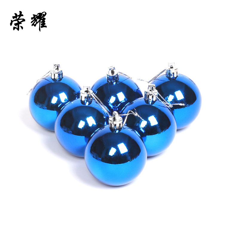 The glory of light ball christmas ball 10 cm silver plating plastic balls christmas ball ornaments 6 installed