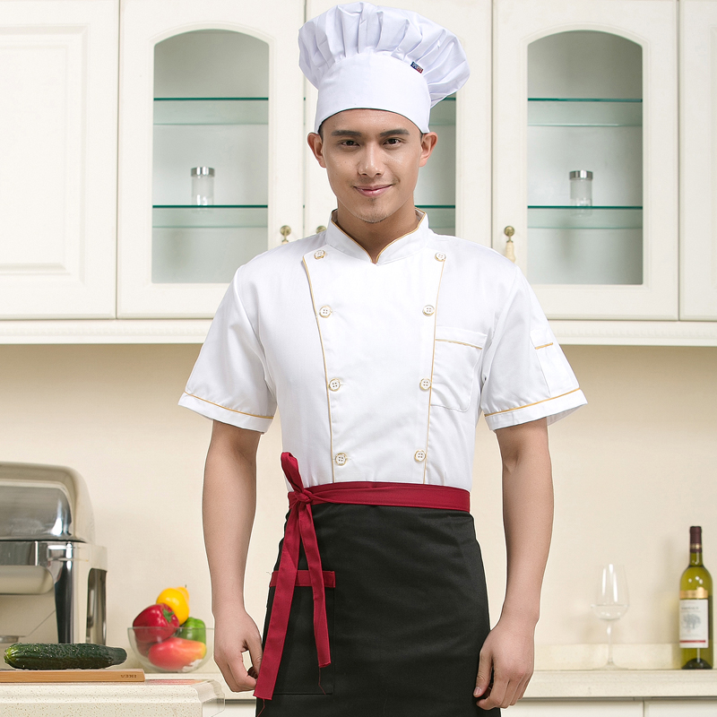 The hotel restaurant chef catering chef clothing overalls overalls summer hotel restaurant chef clothing short sleeve