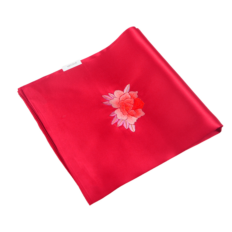 The name of the ancient art of embroidery handmade embroidery silk handkerchief handkerchief silk handkerchief embroidered peony