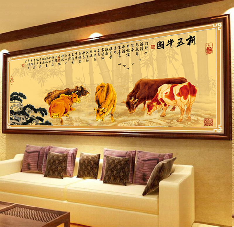 The new 35d stitch printing five five cattle feed cattle figure 6 of new living room 1 m code fogo animal prints