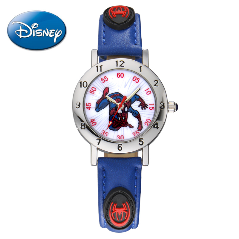 The new disney children's spiderman watch boy student watches luminous pointer table mickey cartoon watch