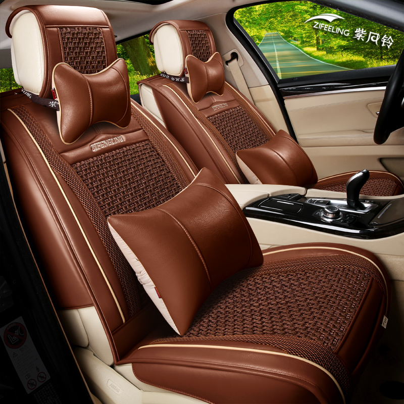 The new european and american fashion american flag all inclusive special car seat leather cushion female four seasons 3d car seat