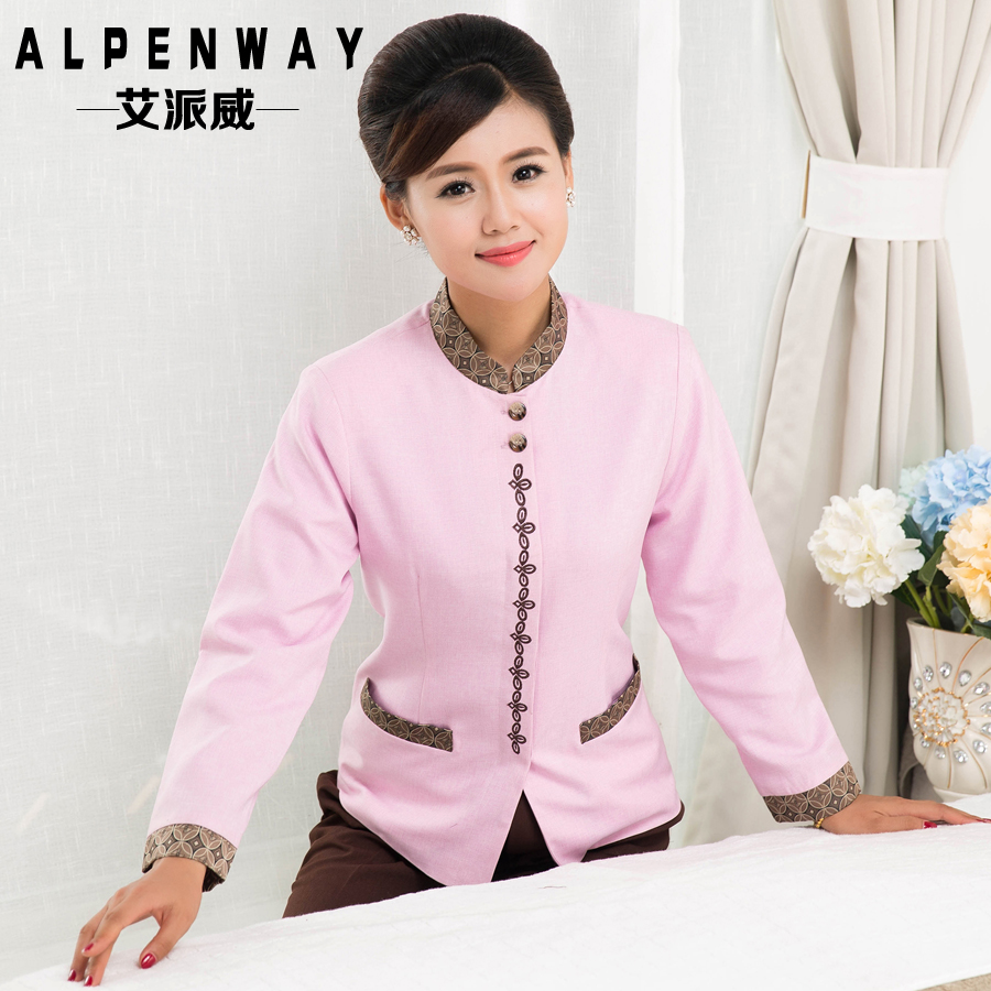The new fall and winter clothes cleaning service hotel cleaning staff uniforms female uniforms pa hotel cleaning thick long sleeve special body