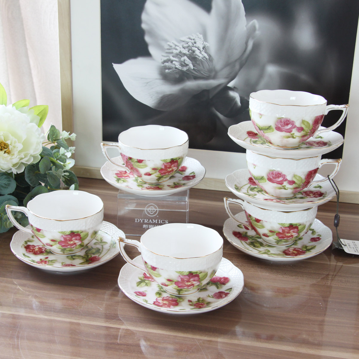 The new generation of porcelain ceramic british european coffee cup coffee cup and saucer british tea liu jiantao gift box wedding gift