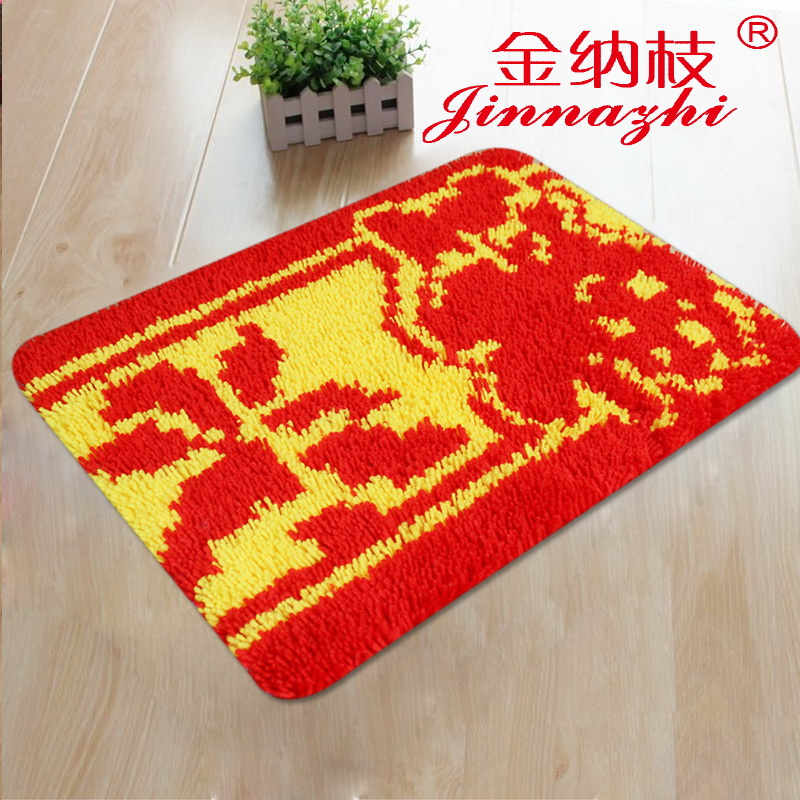The new ginna branch 3d stitch embroidered carpet bed mats doormat mat coarse lines ZD645 paragraphs embroidered blessing