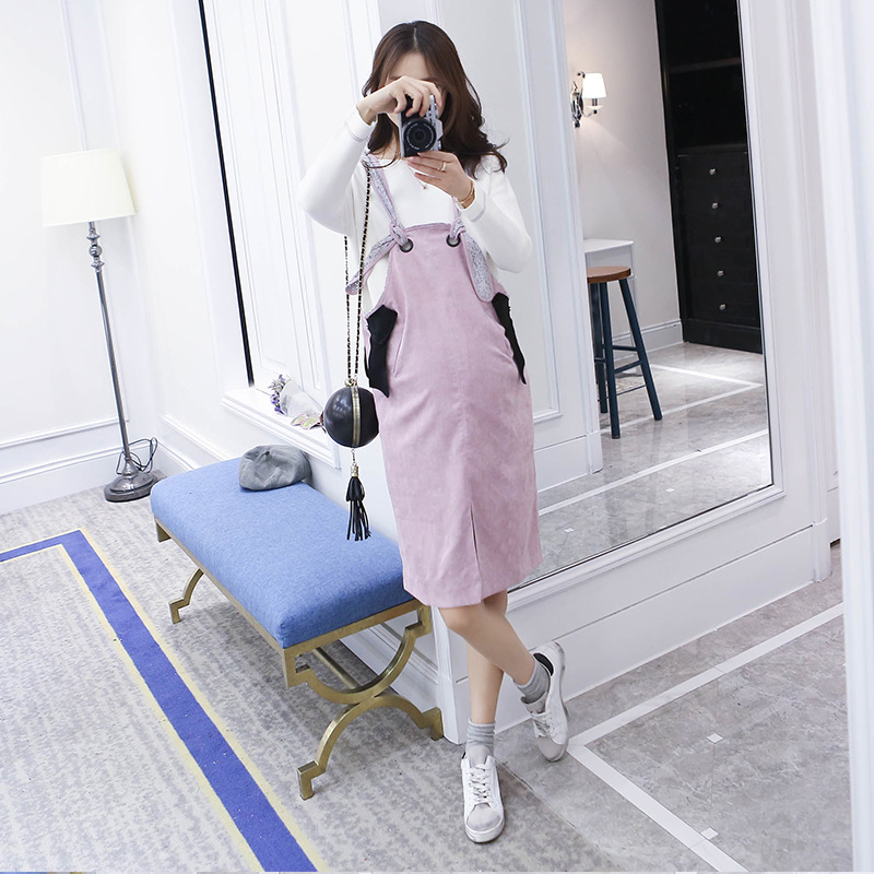 Get Quotations · The new maternity dress and long sections of pregnant  women maternity autumn korean version of a 9c7b556d35b2