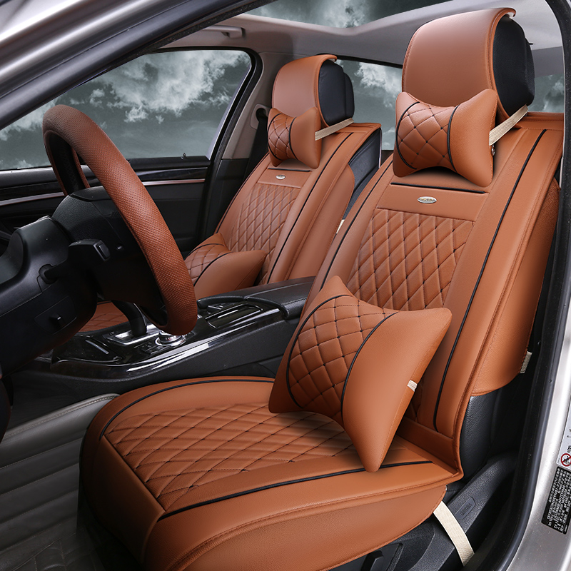 The new polaris teana tiida wing blog yat seat cushion summer cushion the whole package pu leather car seat cushion four seasons applicable