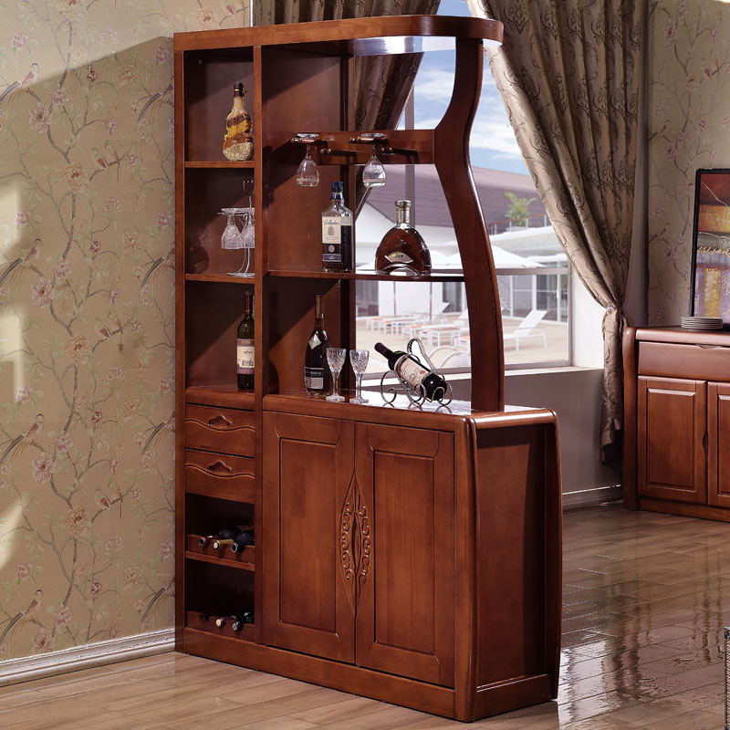 The new upscale oak solid wood cabinet office between one living room furniture modern entrance hall cabinet wine bar