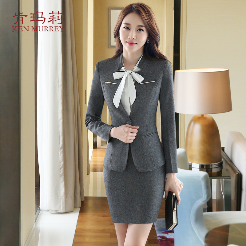 The new women's wear suit ol long sleeve dress slim beautician wear overalls interview suits women suit jacket female