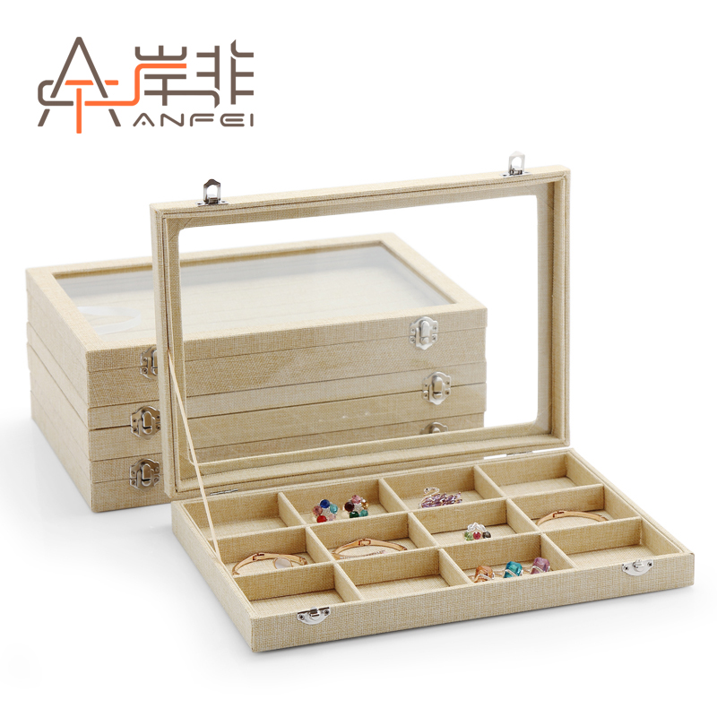 The other side of the non linen necklace bracelet ring earrings jewelry box jewelry box bracelet display box storage box