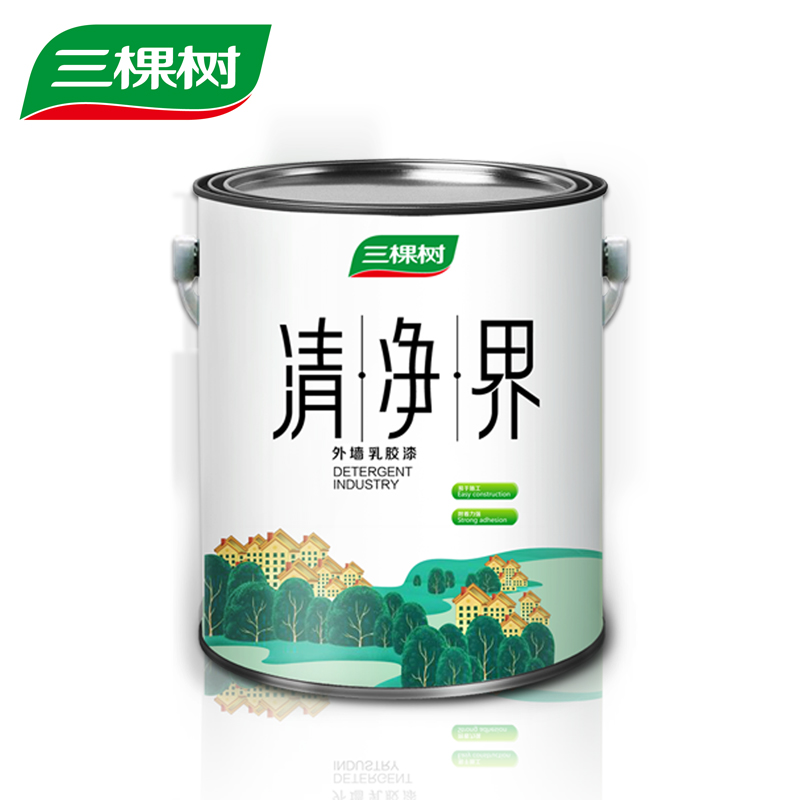 The three camphors exterior latex paint clear net community weather resistant exterior latex paint 6 KG